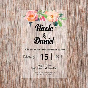 Printed-Acrylic-Invitations---Peach-and-greens-design