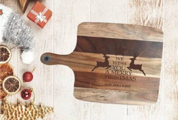We Wish You a Merry Christmas Timber Serving Boards