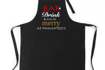 eat drink be merry christmas apron