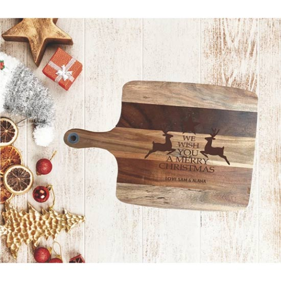 Merry Christmas Timber Serving Boards