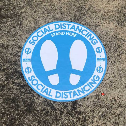social distancing decals