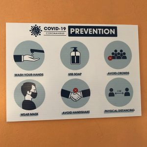 covid prevention decals
